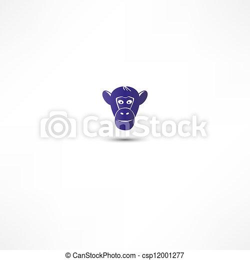 Monkey Icon - csp12001277