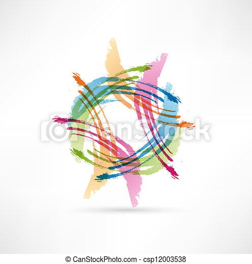 Vector Color Brush Strokes. Abstract symbol. - csp12003538