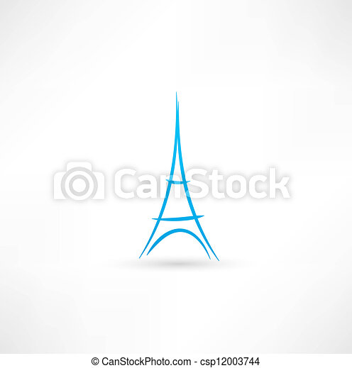 Eiffel Tower icon - csp12003744