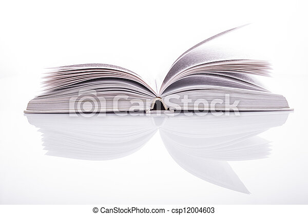 White open book - csp12004603