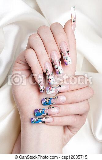 nail art close-up - csp12005715