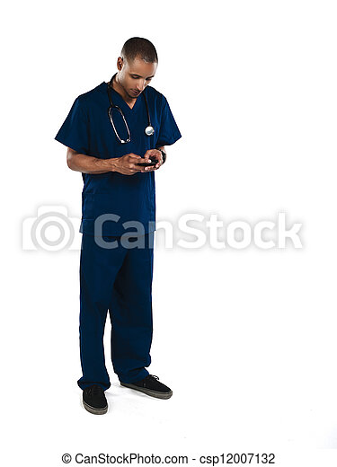 Stock Photos of doctor emailing - Shot of a doctor sending emails ...