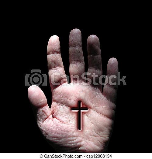 stigmata, cross, religion, faith, jesus, christianity, christ, g - csp12008134