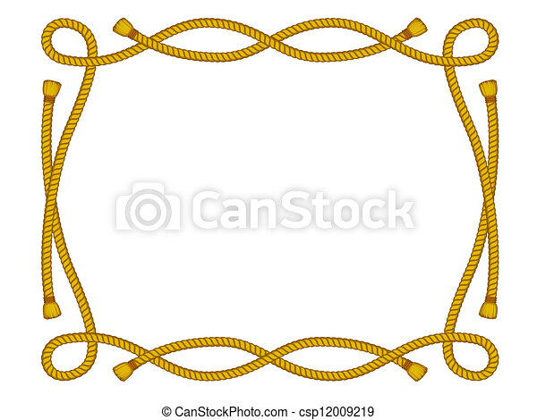 Rope Logo Vector Vector Rope Frame Isolated