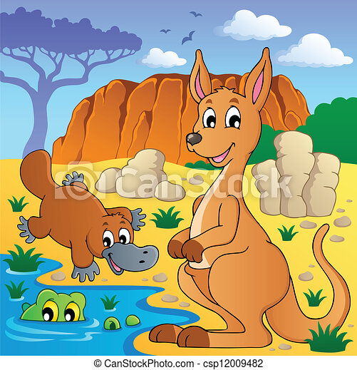 Australian animals theme 4 - csp12009482