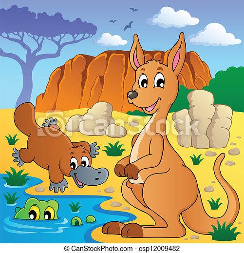 Australian animals theme 4 - csp12009482