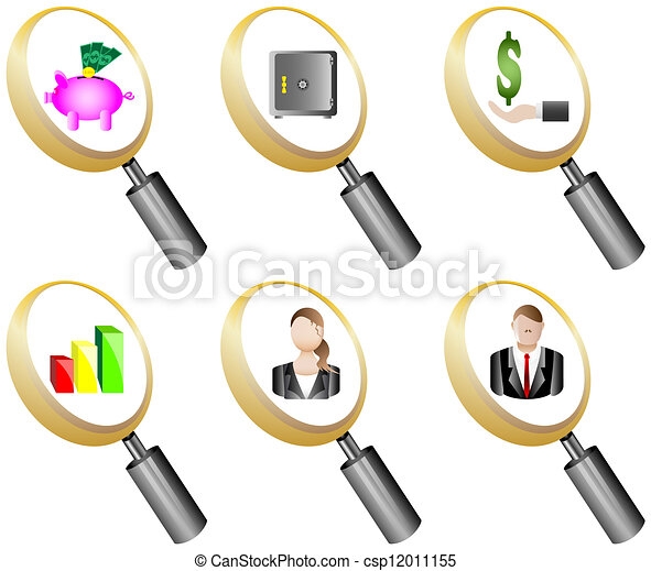 Finance and Banking magnifying - csp12011155