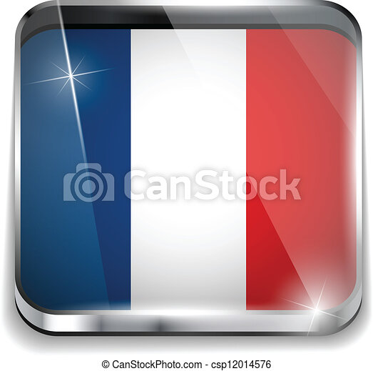 France Flag Smartphone Application Square Buttons - csp12014576