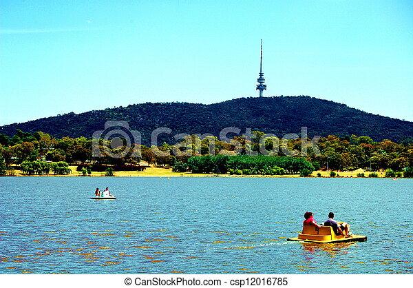 Fun at the lake - csp12016785