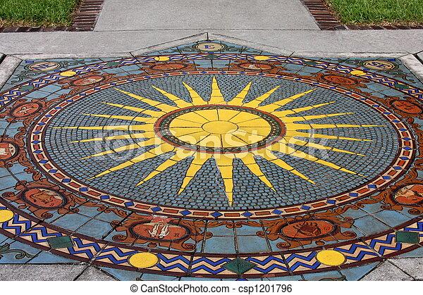 Roman mosaic  - csp1201796