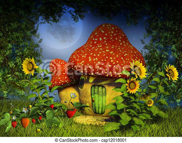 fantasy mushroom house - csp12018001