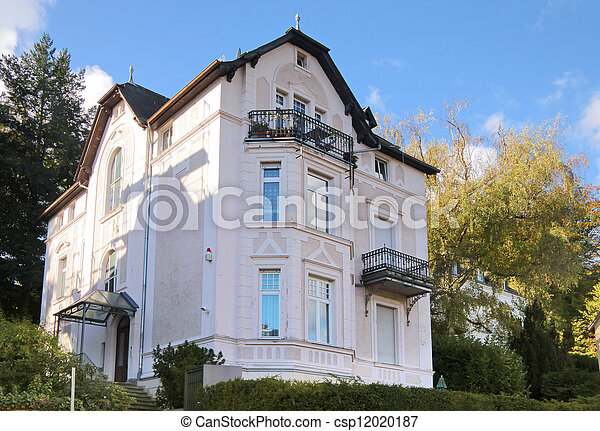 Period of promotion  style house in residential area  - csp12020187
