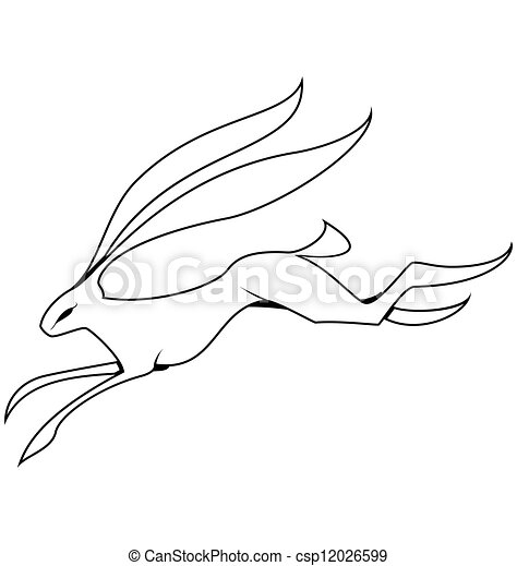 Hare Line Drawings Black And White Hare Jumping