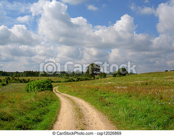 rural landscape - csp12026869