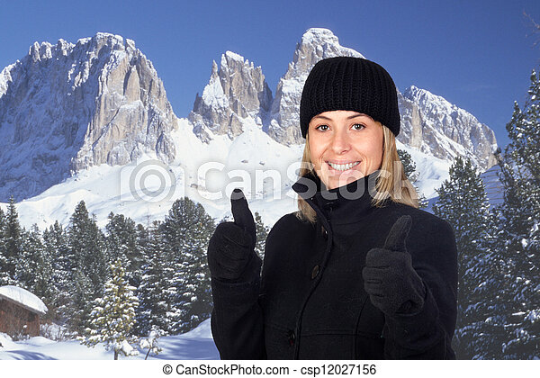 Winter holidays in the mountains - csp12027156