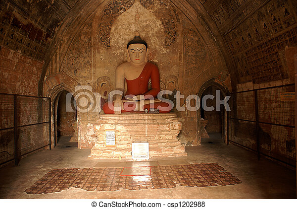 Buddha in red - csp1202988