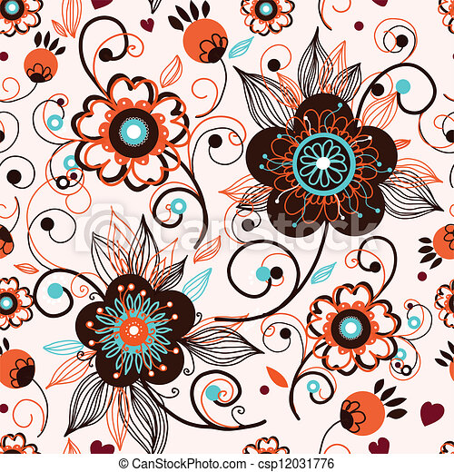 Ilustra o vetorial de seamless textura flores seamless for Sala de estar 3x5