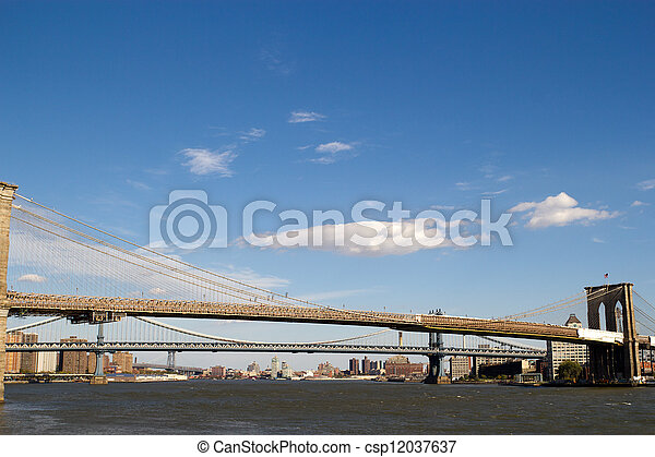 3 bridges in New York - csp12037637