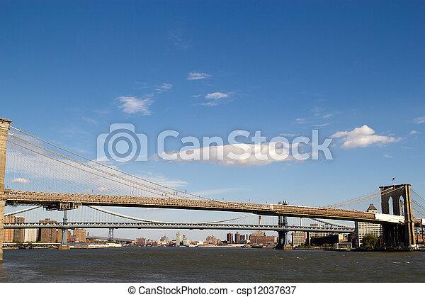 3 bridges in New York - csp12037637