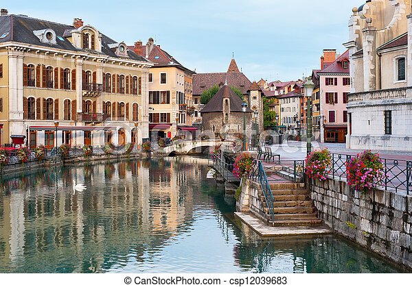 Morning Annecy - csp12039683