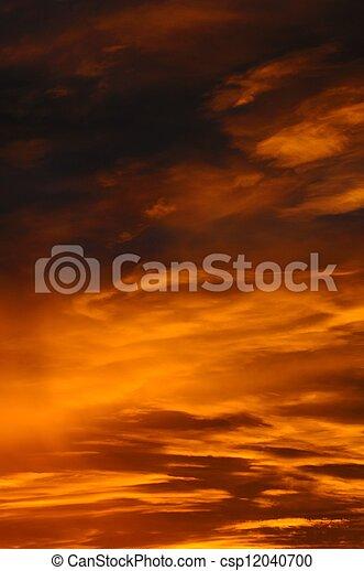 Orange Clouds at sunrise. - csp12040700