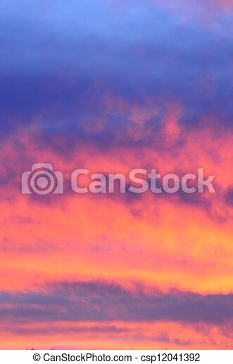 Pink and orange sunrise. - csp12041392