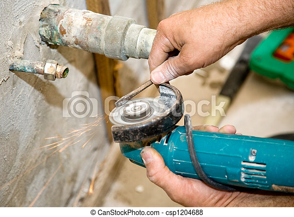 Plumber with Grinder - csp1204688