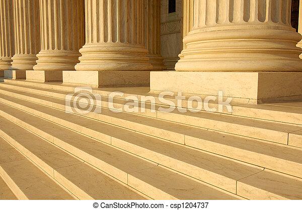 tribunal, supremo, pasos - csp1204737
