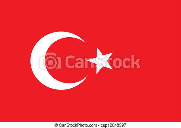 vlag, turkse - csp12048397