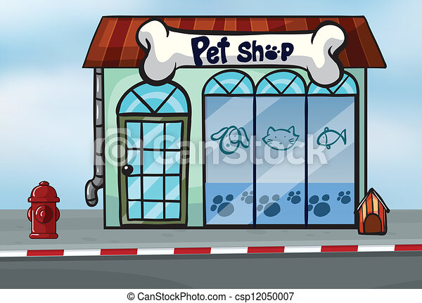 a pet shop   royalty free stock illustration   csp12050007