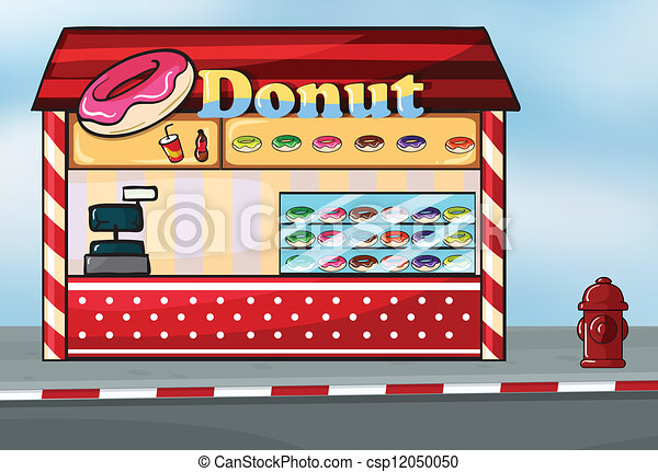 Donut shop Stock Illustrations. 2,617 Donut shop clip art images ...