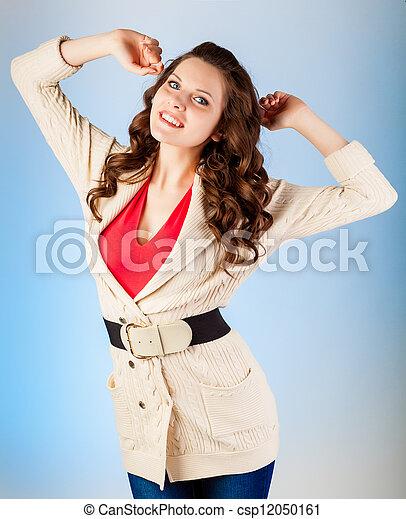 Woman is posing - csp12050161