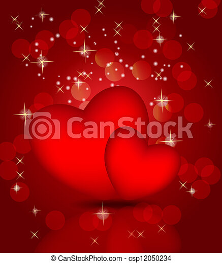Valentines day card, vector illustration - csp12050234