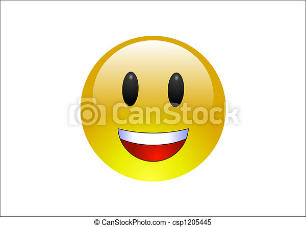 Aqua Emoticons - Laughing - csp1205445