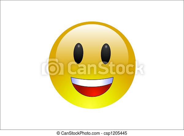 Aqua Emoticons - Laughing - csp1205445