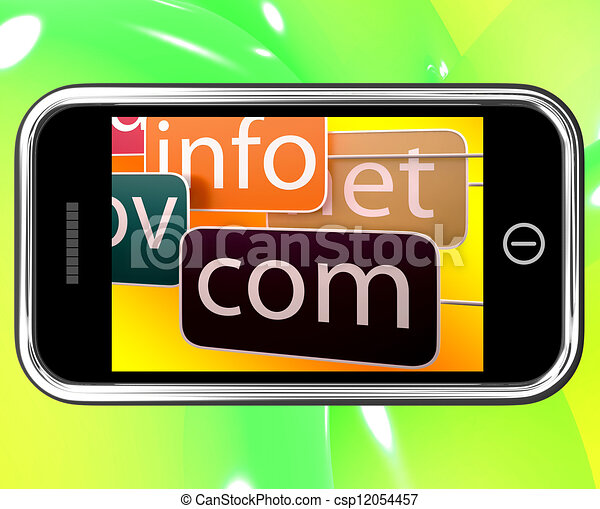 Domains On Smartphone Shows Government Sites - csp12054457
