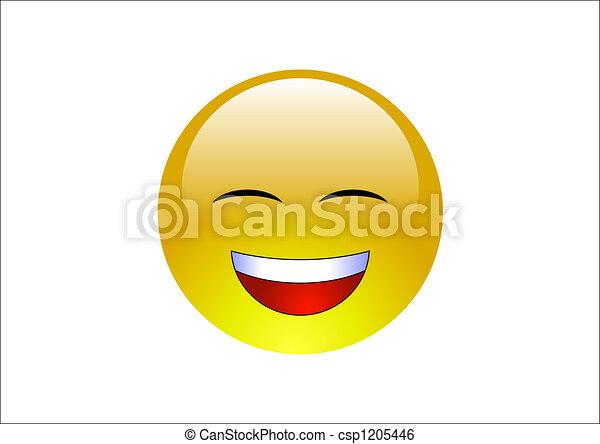 Aqua Emoticons -Laugh 2 - csp1205446