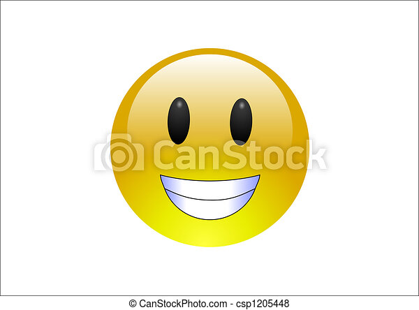 Aqua Emoticons - Grin - csp1205448