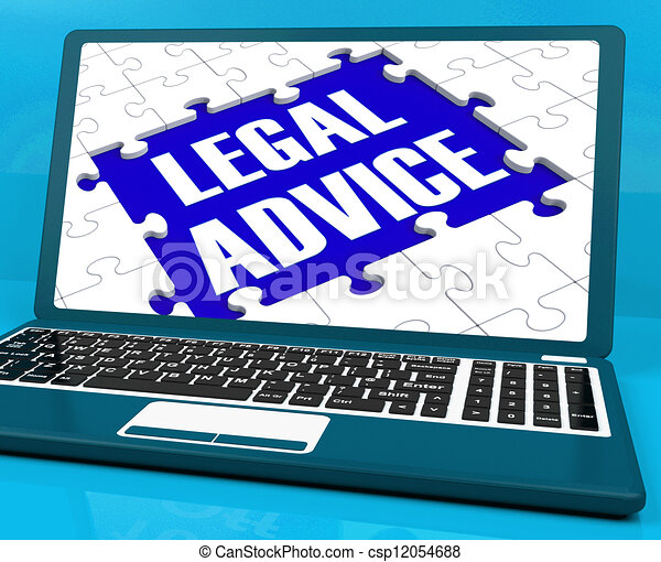 Legal Advice On Laptop Shows Criminal Justice - csp12054688