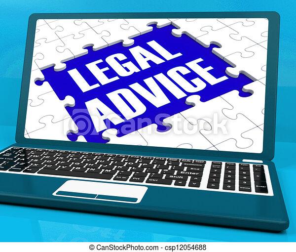 Legal Advice On Laptop Shows Criminal Justice - csp12054688