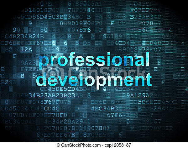 Education concept: professional development on digital - csp12058187
