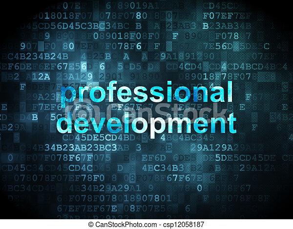 Education concept: professional development on digital - csp12058187