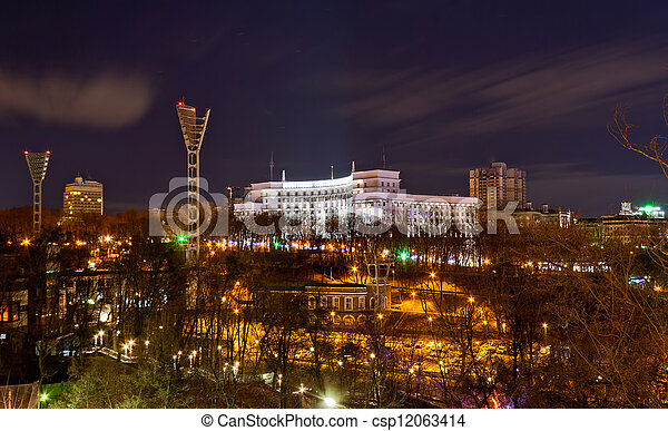 View of Dynamo stadium and Government House - csp12063414