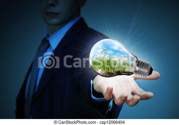 clean energy. windmills - csp12066404