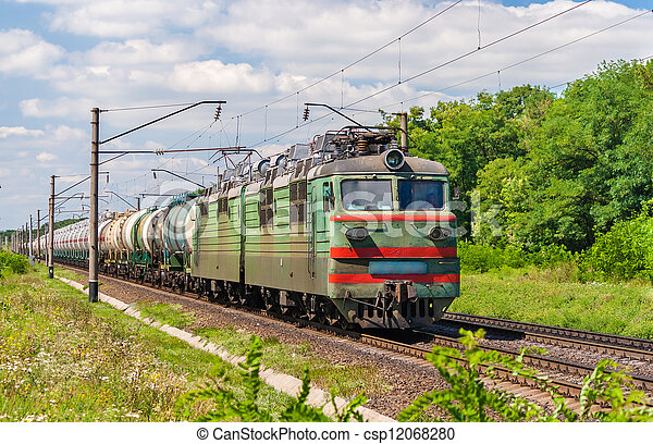 Oil and liquefied gas transportation by the railway - csp12068280