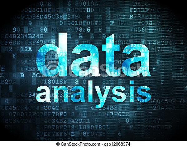 Information concept: data analysis on digital background - csp12068374