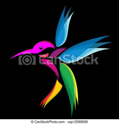 Vector - Hummingbird - stock illustration, royalty free illustrations ...