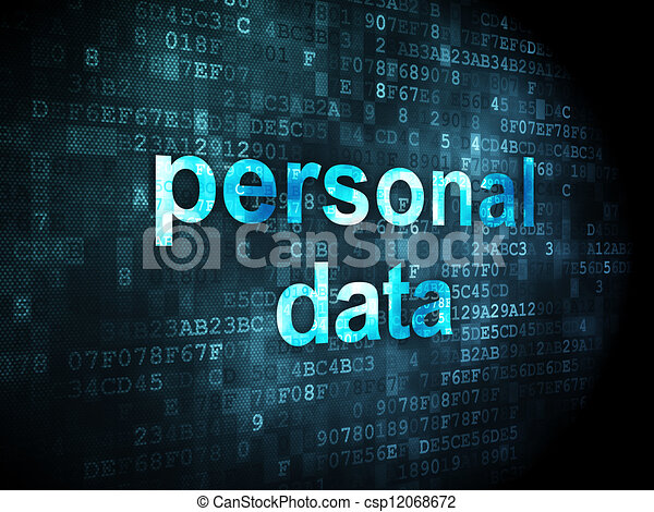 Information Concept Personal Data On Digital Background  Csp12068672
