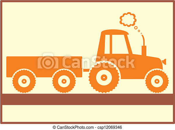 Tractor trailer Clipart Vector and Illustration. 3,415 Tractor ...
