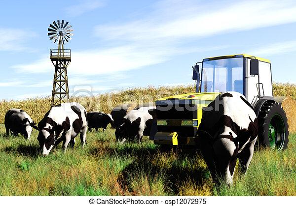 Agriculture Concept 3D render - csp12072975